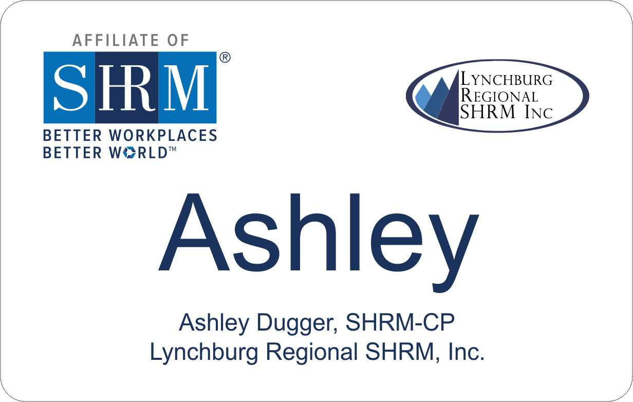 Lynchburg Regional Chapter SHRM badges