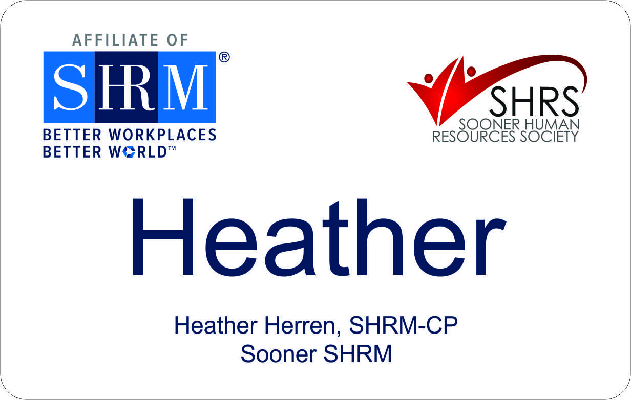 Sooner Chapter SHRM badges